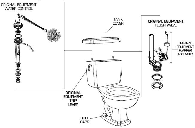American Standard 2464 019 Toilet Parts