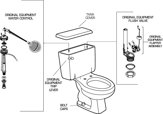 American Standard 2188 012 Toilet Parts