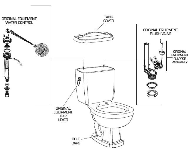 American Standard 2266 015 Toilet Parts