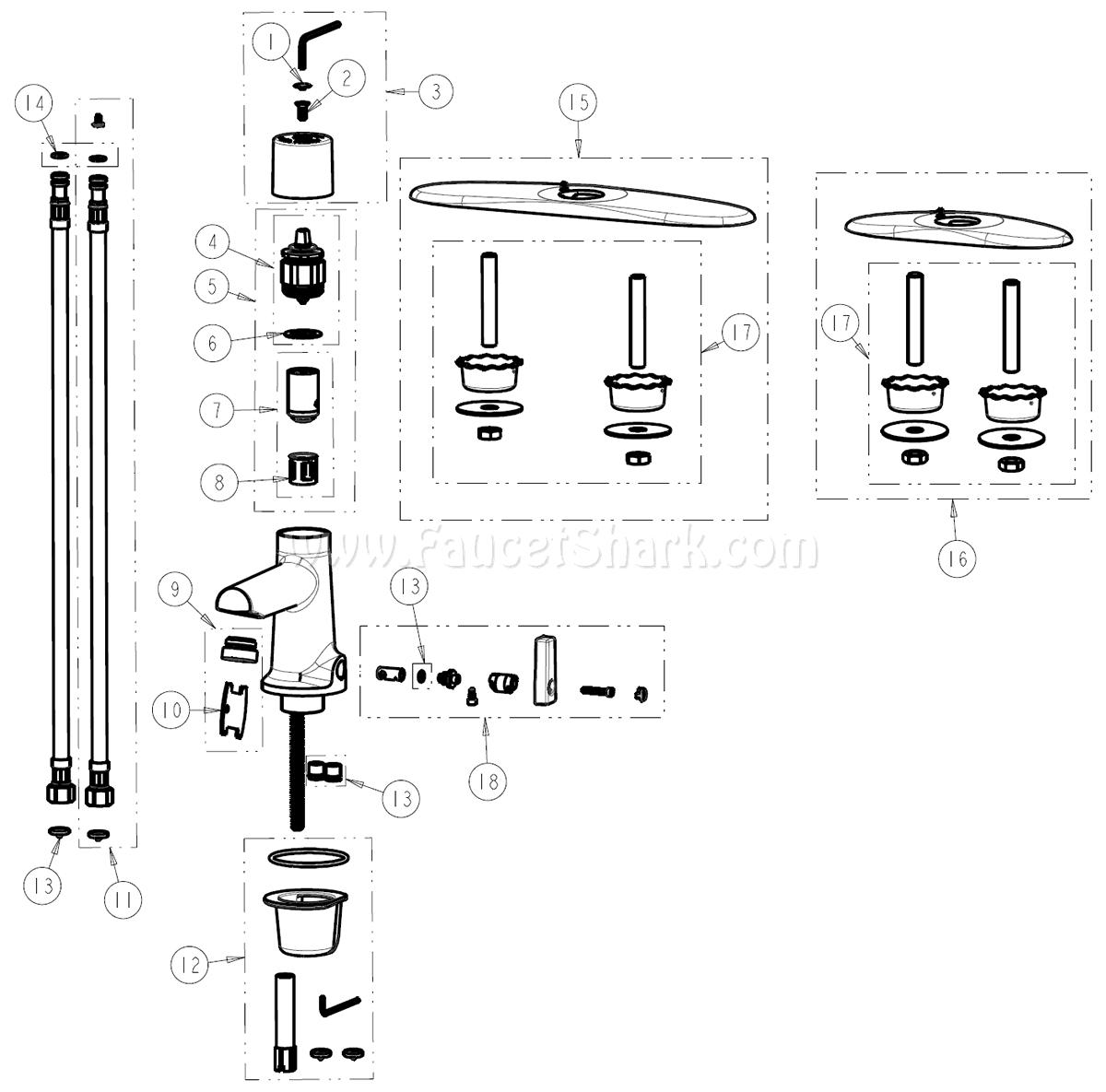 Chicago Faucets 3502 8e2805abcp Parts