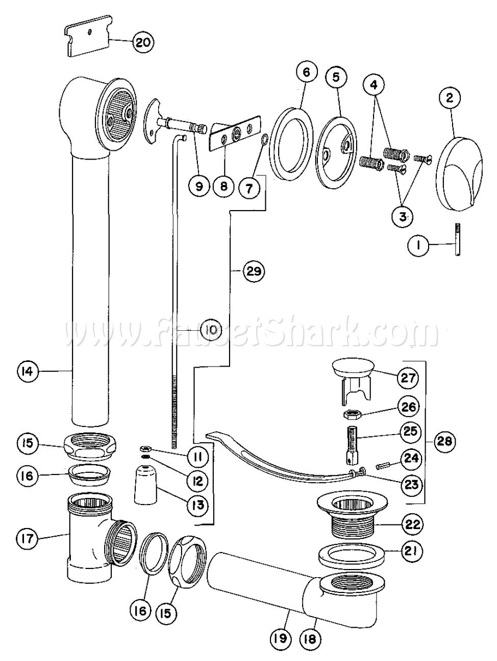 Crane 8 1505 Criterion Bath Waste Fitting Parts