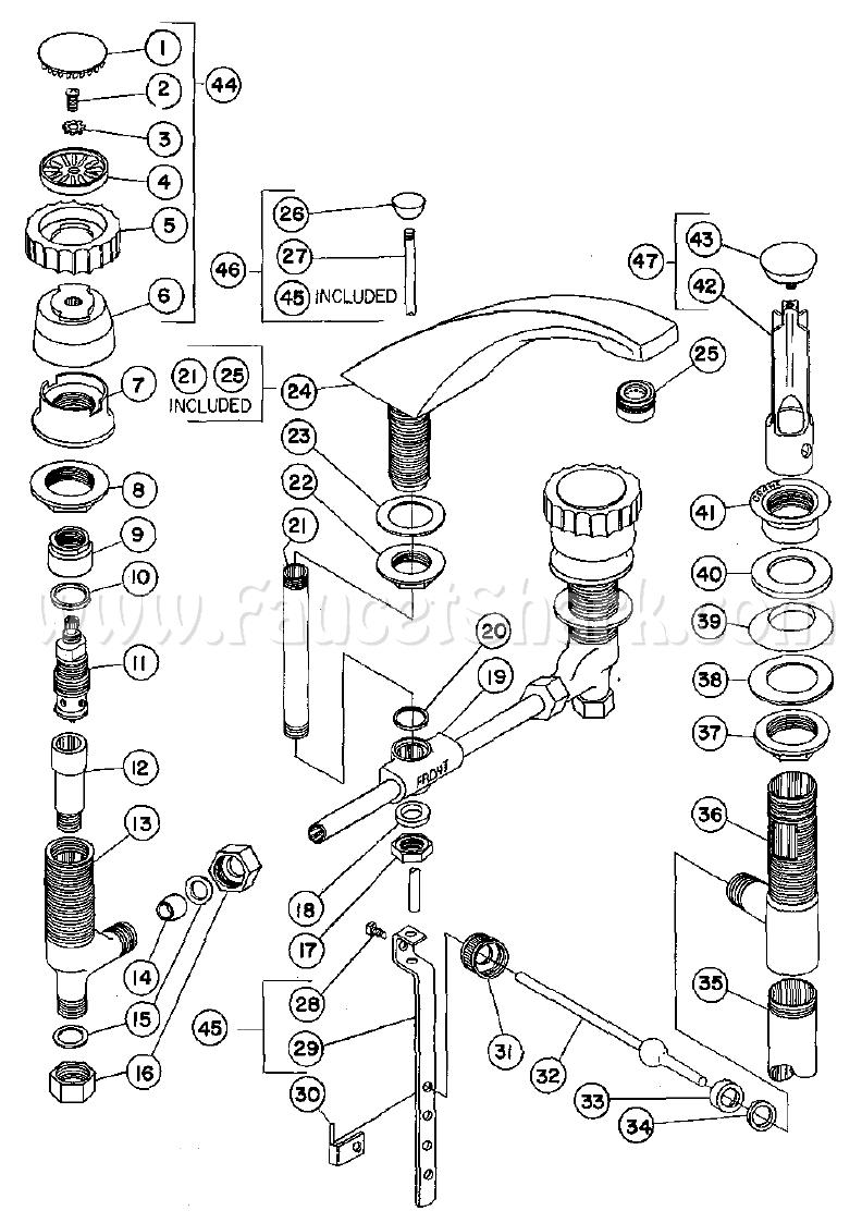 Crane 8-1179A Criterion Concealed Lavatory Faucet Parts