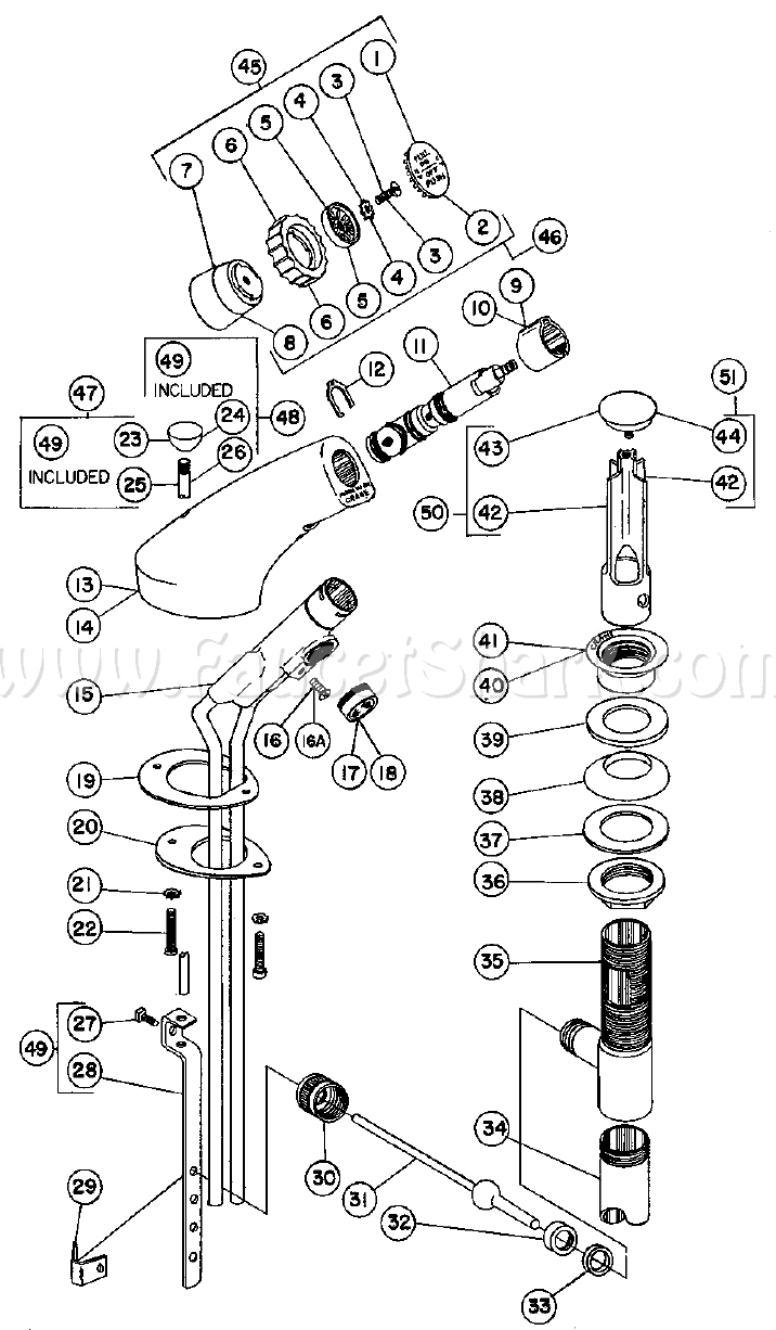 Crane 8-1046A Criterion Dialette Lavatory Faucet Parts