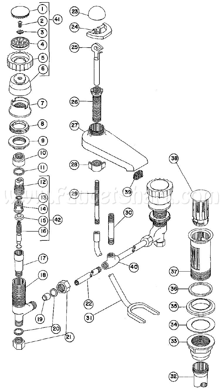 Crane 8-1000 Criterion Concealed Lavatory Faucet Parts
