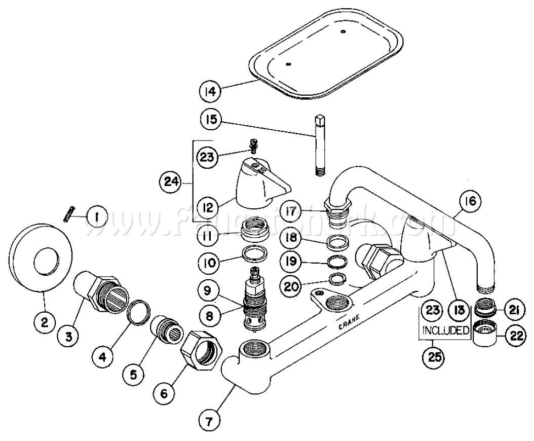 Crane 8 2770a Capri Wall Mount Faucet Parts