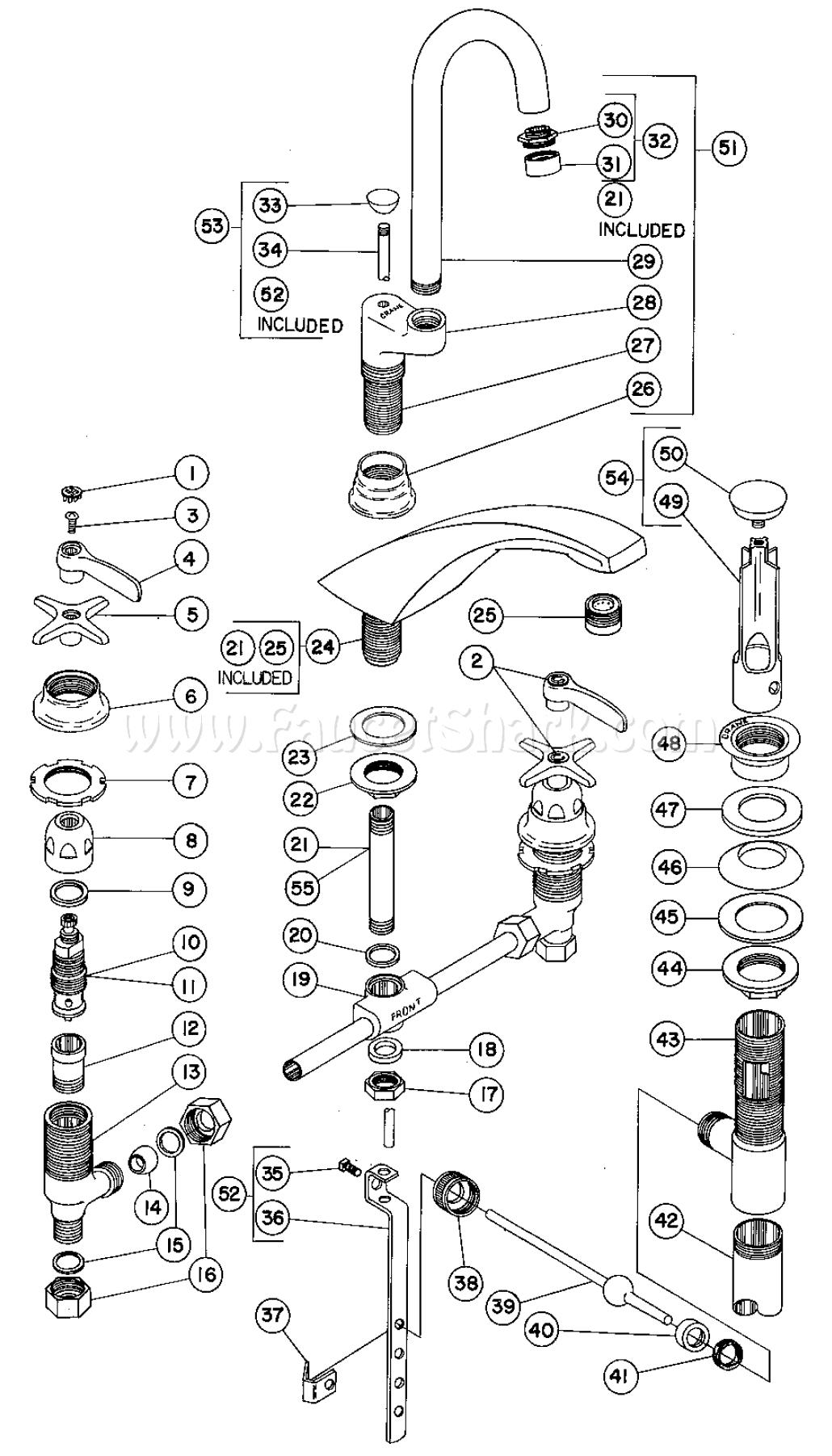 Crane 8H2173A Hospital Lavatory Faucet Parts
