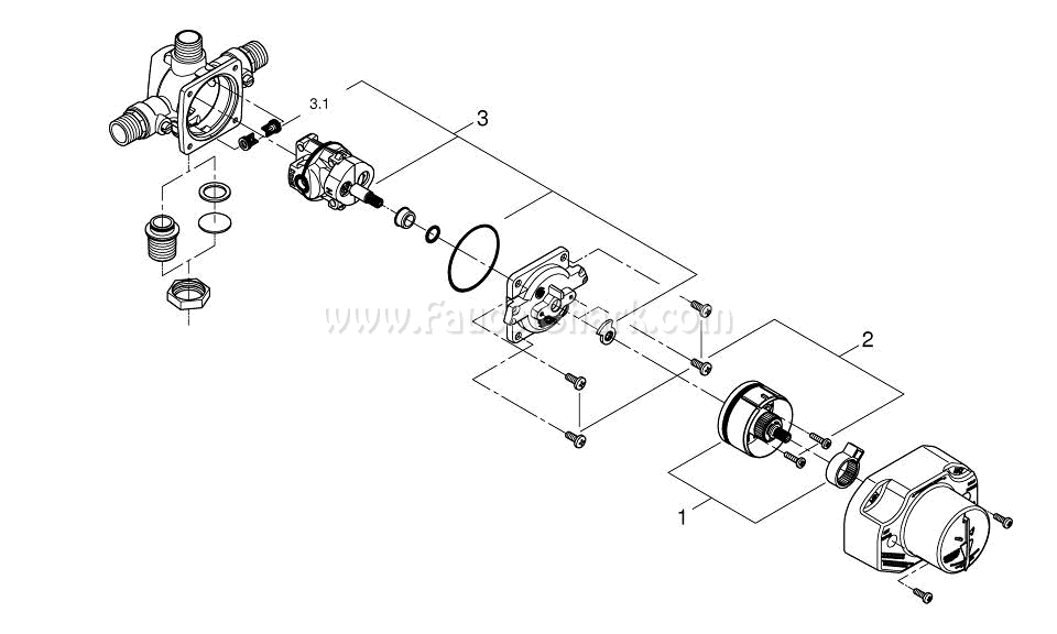 Grohe 35015000 Repair Parts