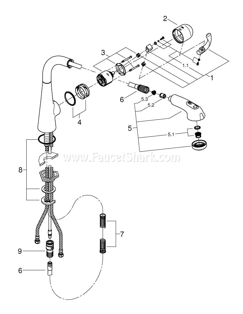 Grohe 33893dc0 Repair Parts
