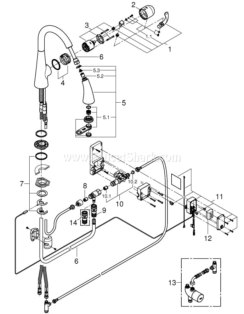 Grohe 30205dc0 Repair Parts