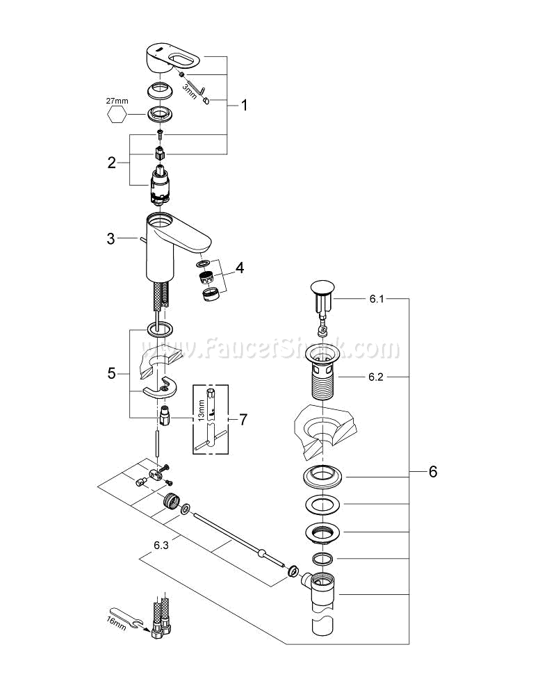Grohe 23084000 Repair Parts