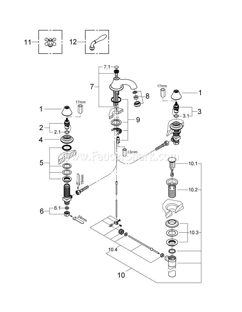 Grohe 20800be0 Repair Parts