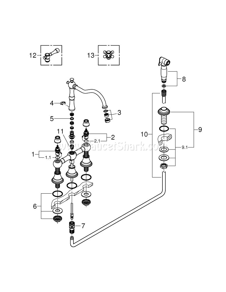 Grohe 20158zb0 Repair Parts