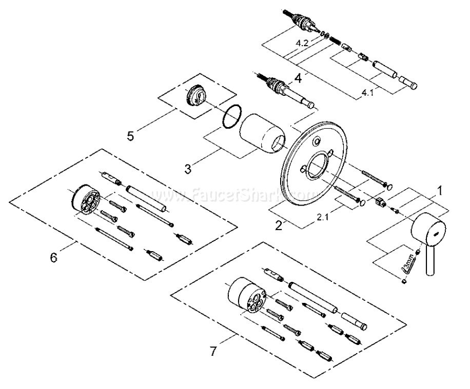 Grohe 19 285 Essence Replacement Parts