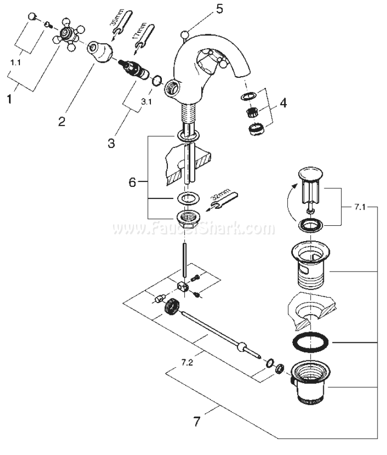 Grohe 21 012 Sinfonia Replacement Parts