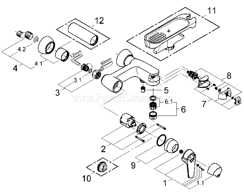 Grohe 33 468 Eurowing Replacement Parts