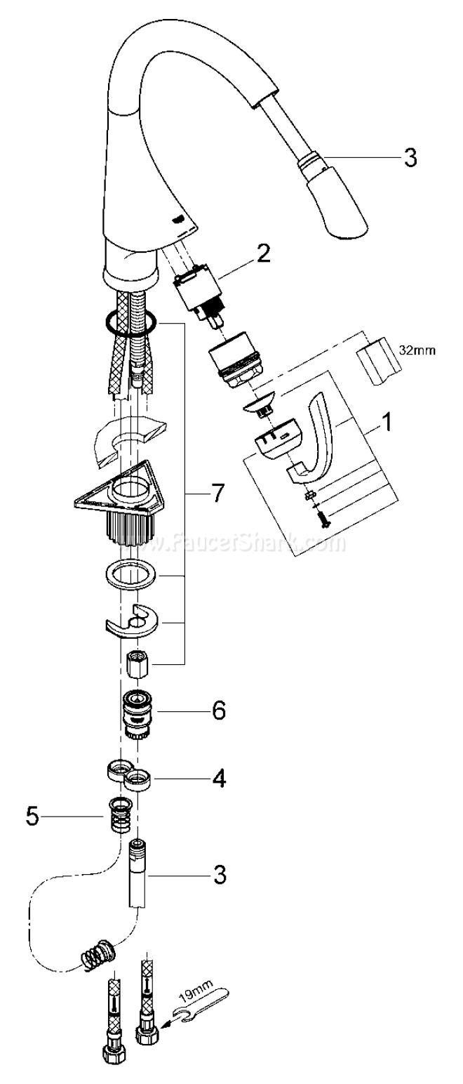 Grohe 33 786 K4 Replacement Parts