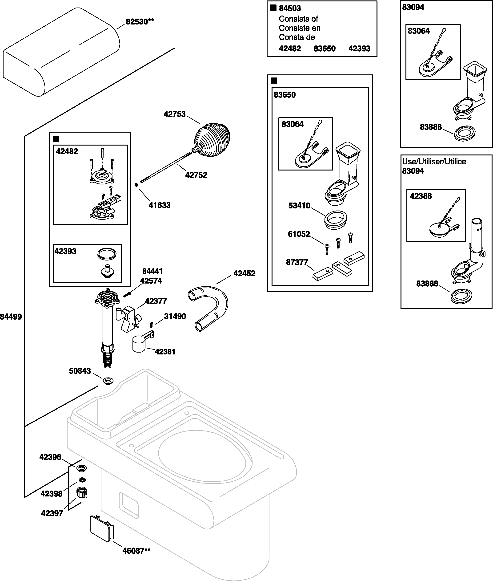 Kohler Toilet Tank Parts Diagram - Sao Mai Center