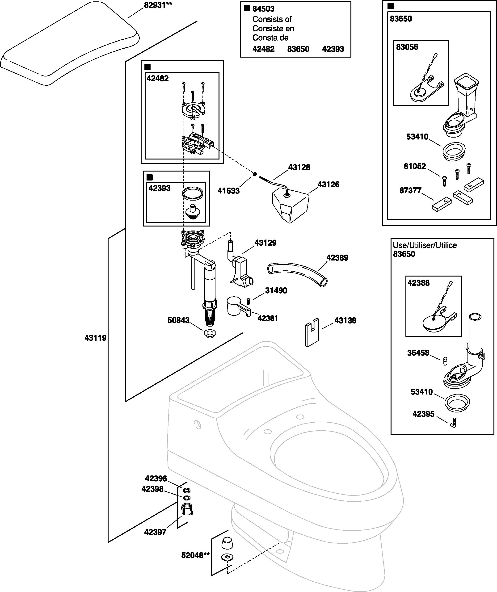 Kohler k 3395 san raphael toilet parts kohler k 3395 san raphael replacement parts pooptronica Image collections
