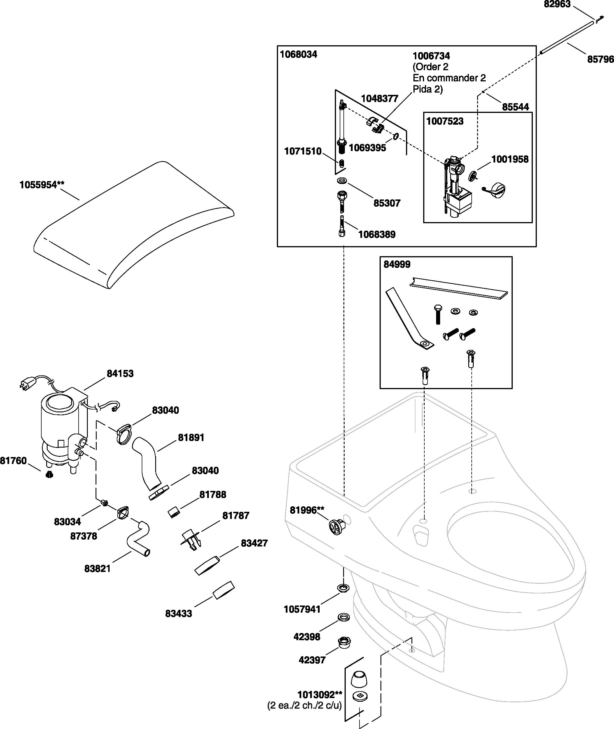 Kohler k 3607 san raphael toilet parts kohler k 3607 san raphael replacement parts pooptronica Image collections