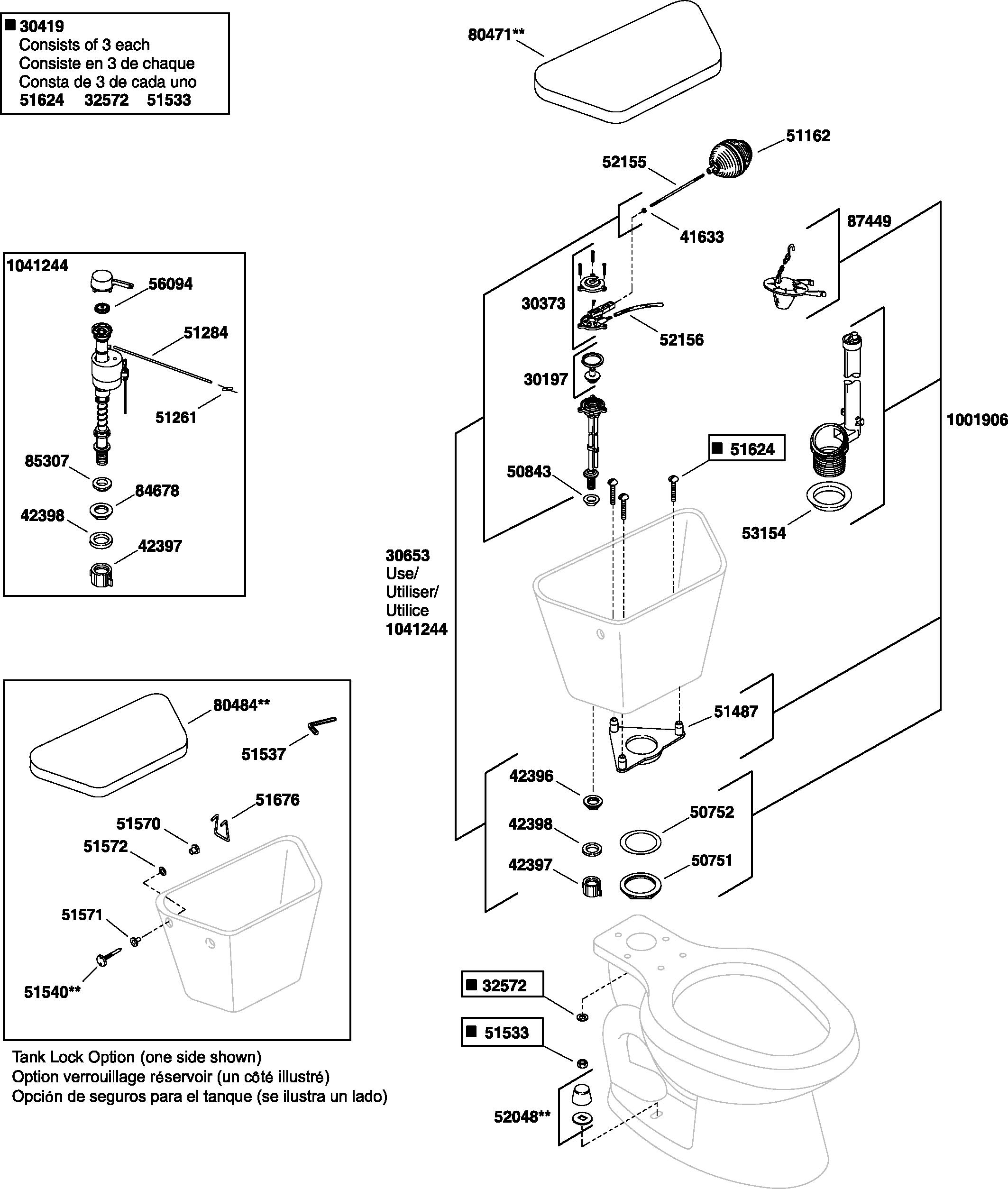 Kohler K 4519 WellworthRNorthline Barrington Replacement Parts
