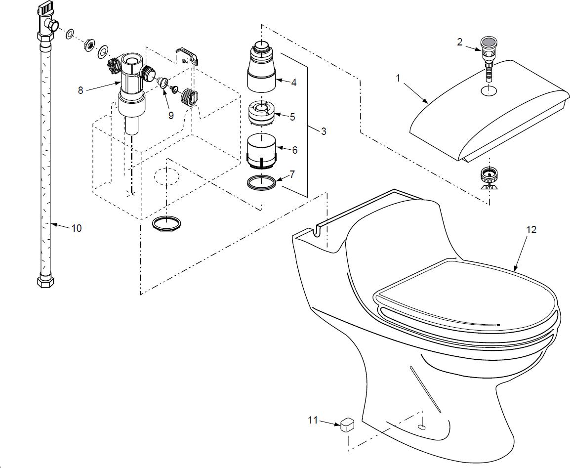 Remarkable Porcher Veneto 9712X Toilet Parts Creativecarmelina Interior Chair Design Creativecarmelinacom