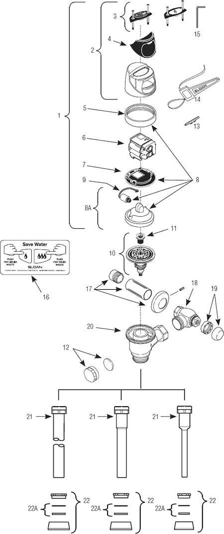 EBV 138A Sloan Flushometer