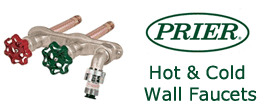 Prier Hot and Cold Water Outdoor Wall Hydrants