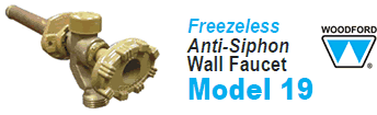 Woodford Model 19 Freezeless Anti-Siphon Wall Faucets
