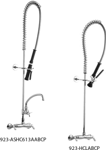 Chicago Faucets Adjustable Wall Mount Pre-Rinse Faucets