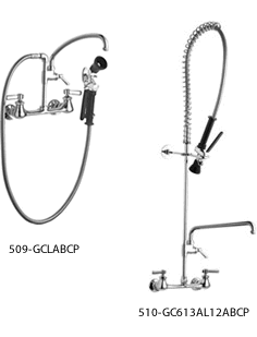 Chicago Faucets Wall Mount Pre-Rinse Faucets