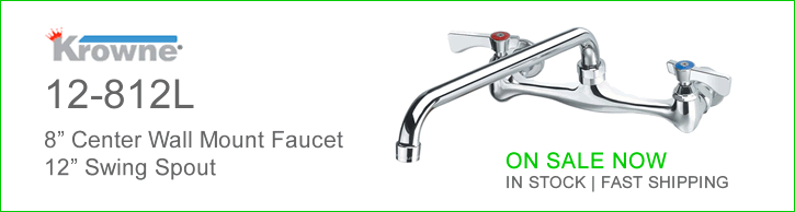 Krowne 12-812 8 Inch Wall Mount Faucet - ON Sale Now!